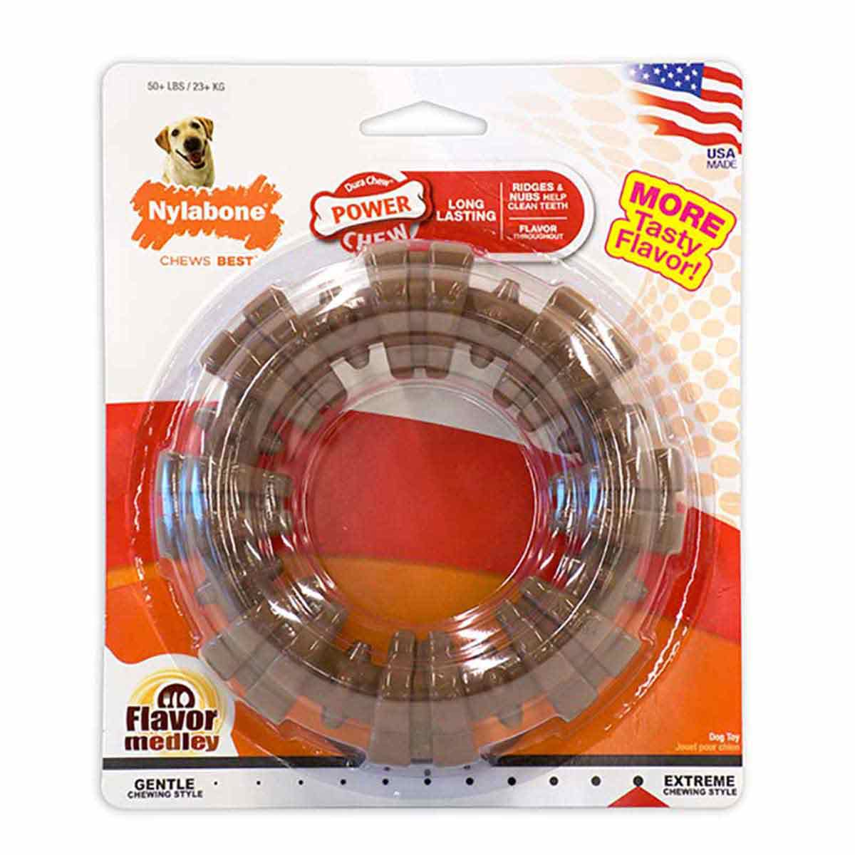 Nylabone DuraChew Textured Ring for Dogs - Souper Size