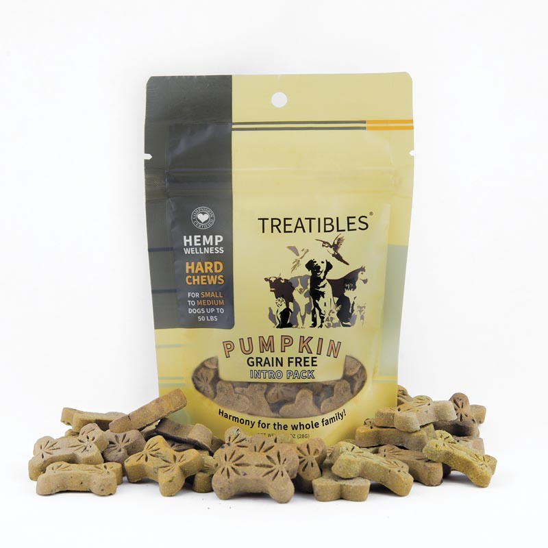 1 mg 14 Count Treatibles Small Pumpkin Hard Chews for Dogs