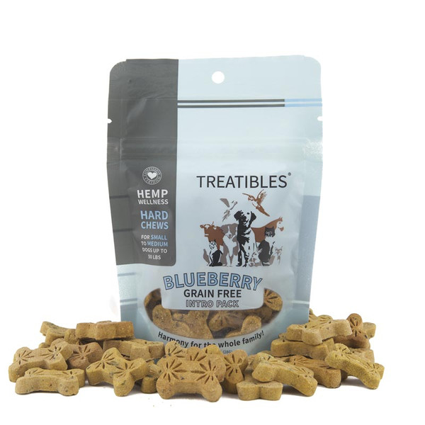 1 mg 14 Count Treatibles Small Blueberry Hard Chews for Dogs