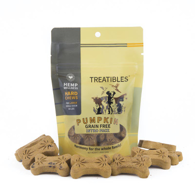4 mg 7 Count Treatibles Large Pumpkin Hard Chews for Dogs