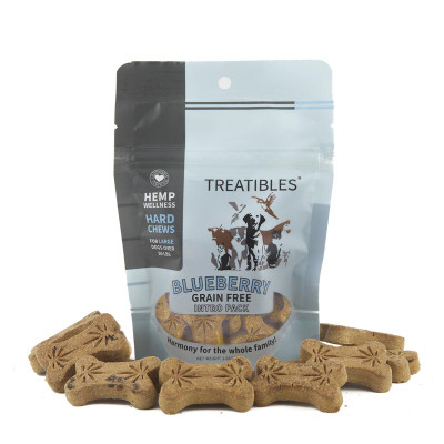 4 mg 7 Count Treatibles Large Blueberry Hard Chews for Dogs