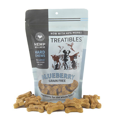 Treatibles Large Blueberry Hard Chews 4 mg 45 count