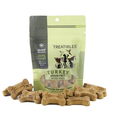 4 mg 7 Count Treatibles Large Turkey Hard Chews for Dogs