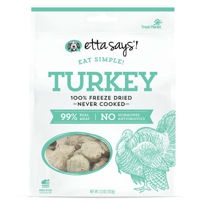 Etta Says Eat Simple Freeze Dried Turkey 2.5 oz Dog Treats available at Ryan's Pet Supplies