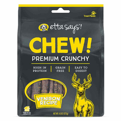 Etta Says Premium Crunchy Chews Venison Treats for Dogs 4.5 oz at Ryan's Pet Supplies