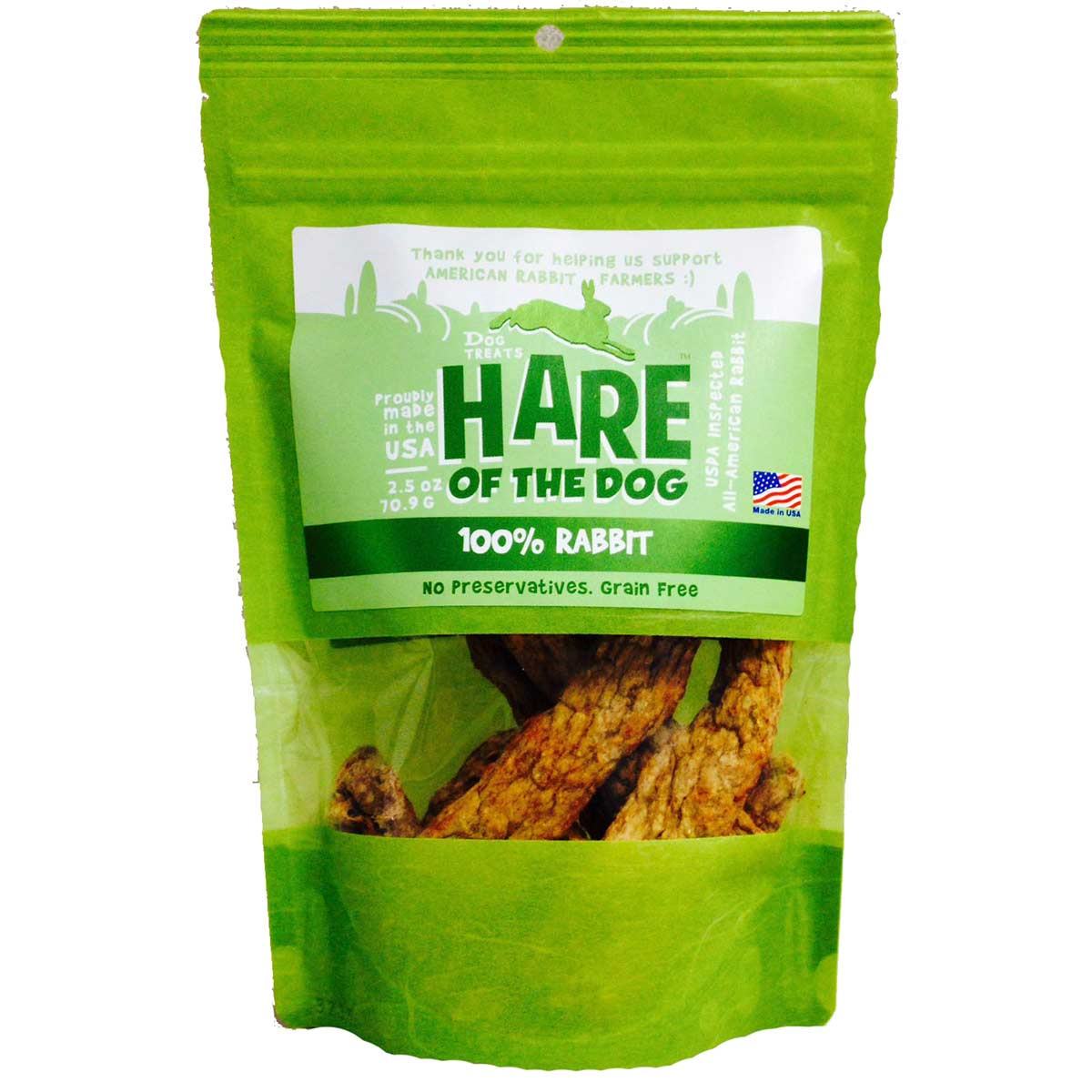 Hare of the Dog Rabbit Jerky Dog Treats