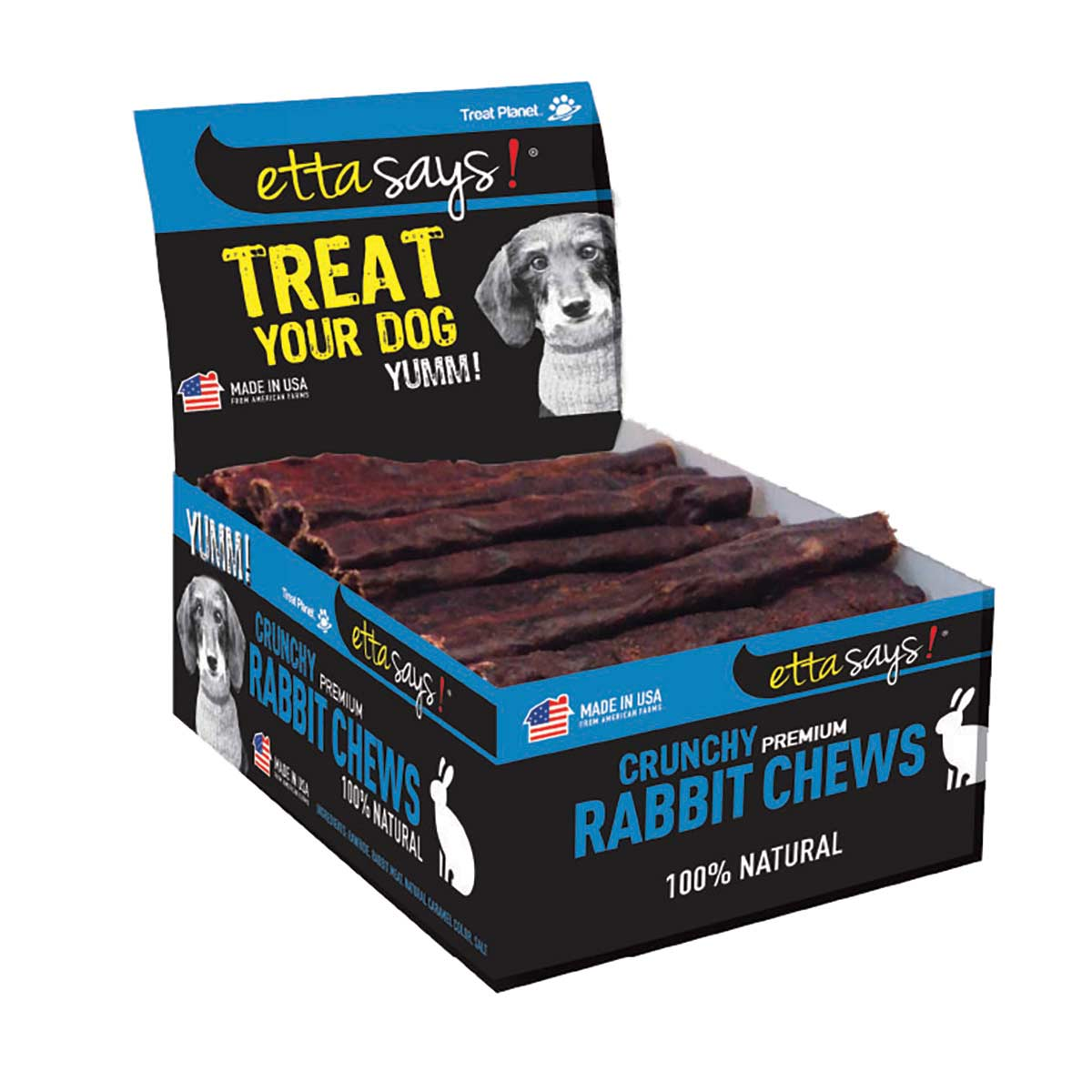 Display Box with Etta Says! Crunchy Rabbit Chews 36 Count