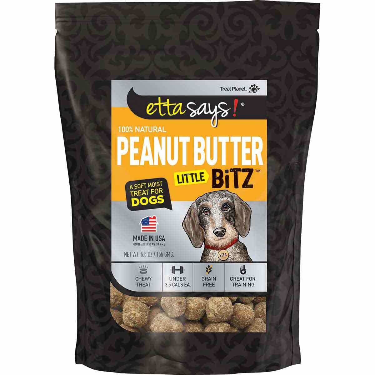 Peanut Butter Etta Says! Little Bitz Training Treats 5.5 oz