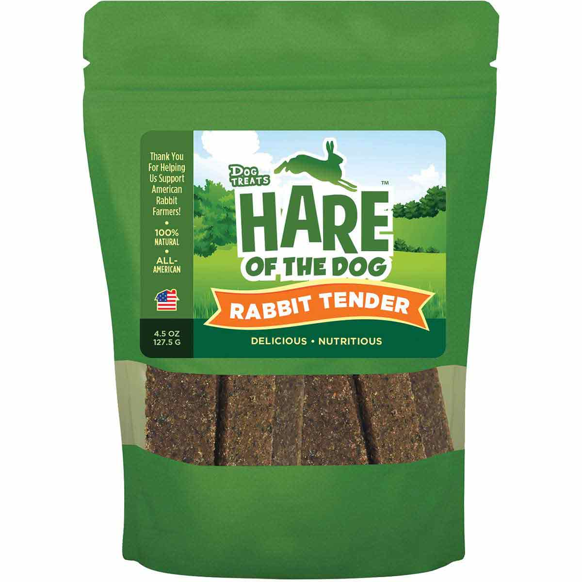 Hare of the Dog Rabbit Tender with All-American Rabbit Dog Treats