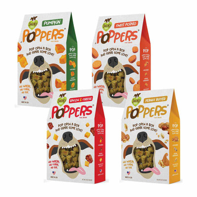 Snicky Snak Poppers Dog Treats 10oz available at Ryan's Pet Supplies
