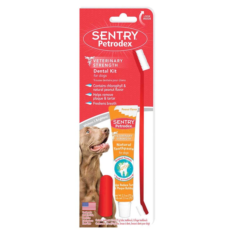 Sentry Petrodex Natural Dental Care Kit for Dogs