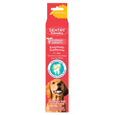 Sentry Poultry Flavor Petrodex Enzymatic Toothpaste For Dogs 2.5 oz
