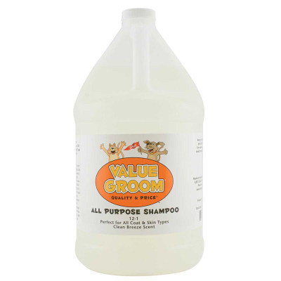 Value Groom All Purpose Pet Shampoo Gallon 12:1 Concentration