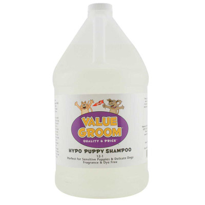 Value Groom Hypoallergenic Puppy Shampoo Gallon with 12:1 Concentration