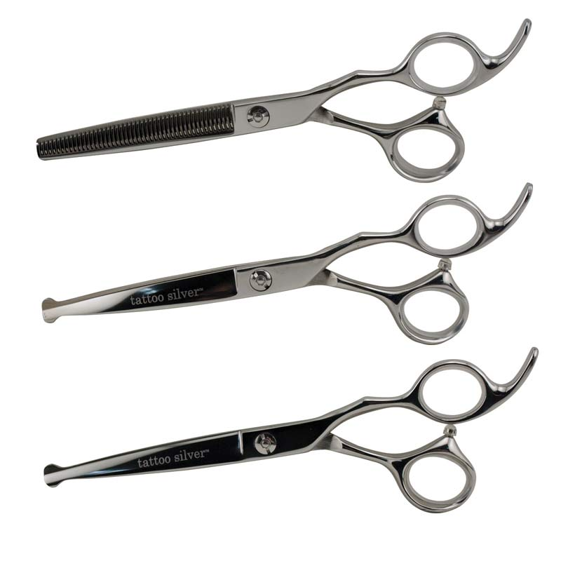 Tattoo Silver 3 Shear Ball Tip Set for Professional Grooming
