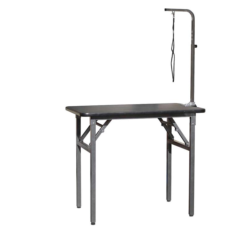 Value Groom Folding Grooming Table with Arm 30 inches by 19 inches by 32 inches