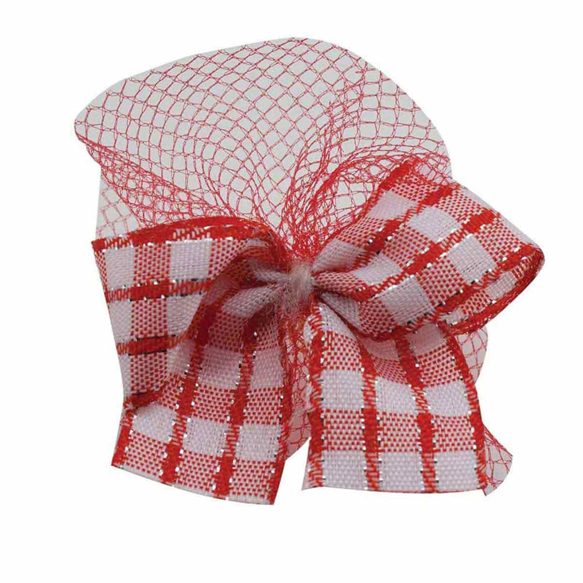 Fancy Finishes Plaid Bows With Tulle for Dog Grooming - 100 Count Bag