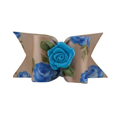 Fancy Finishes Floral Satin Bows With Rose Center - 24 Count Bag