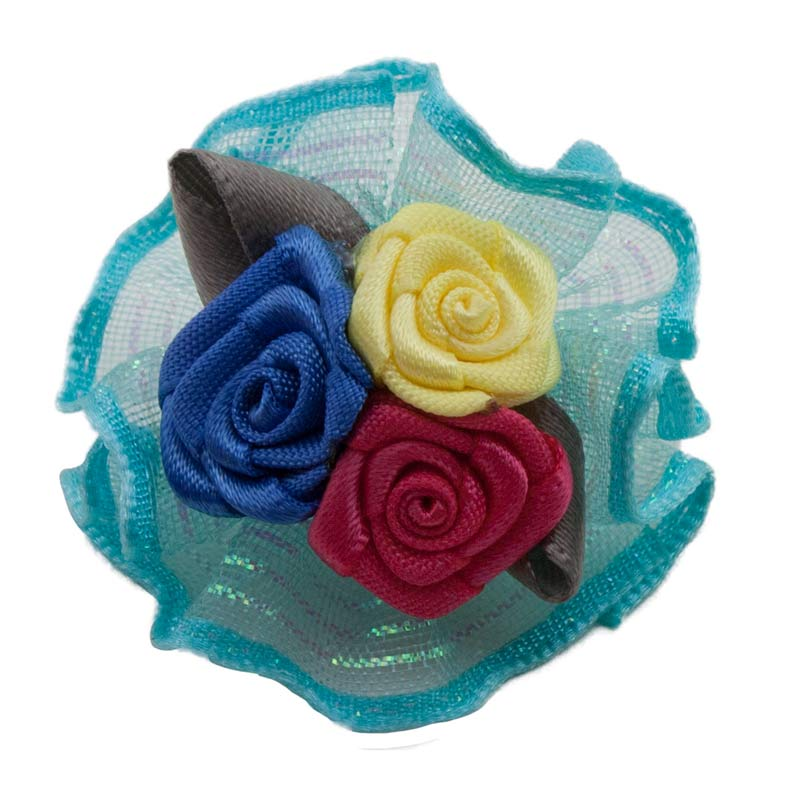 Fancy Finishes Assorted Satin Ribboned Bows with Triple Rose Center