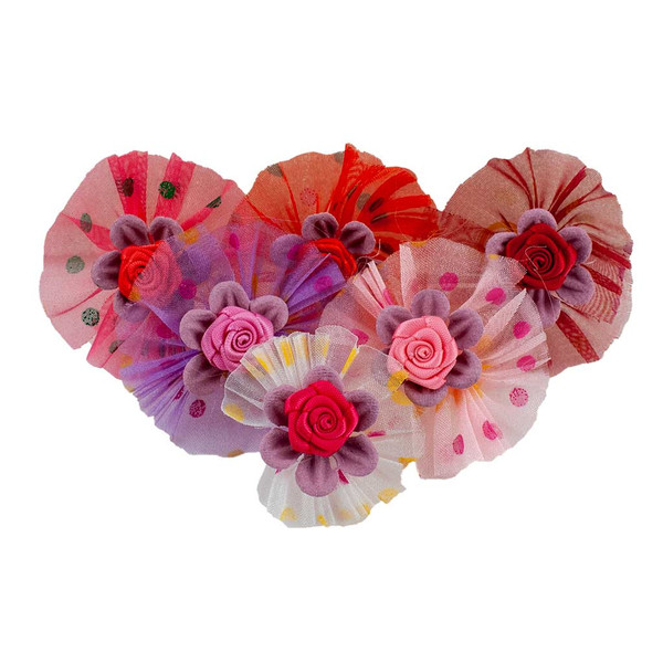 Fancy Finishes Printed Dots Organza Bows