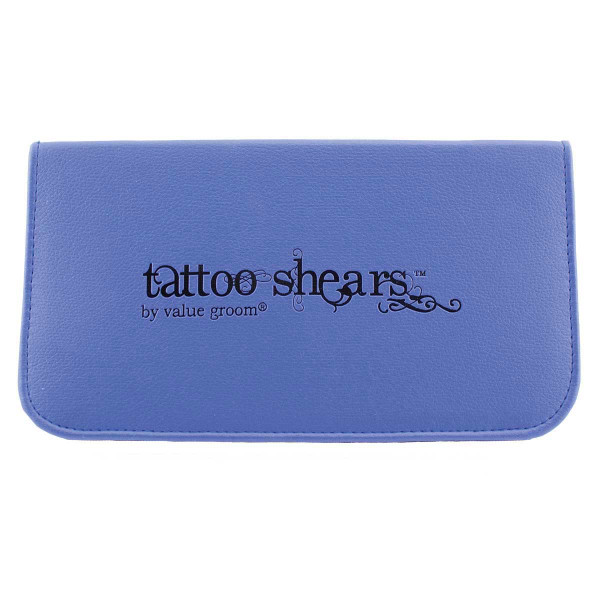Tattoo Shears By Value Groom Shear Case Blue Holds 3 Pairs Of Shears