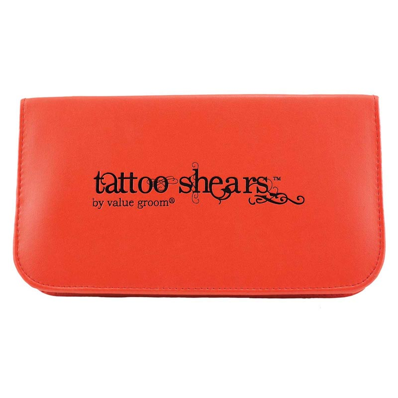 Red Tattoo Shears By Value Groom Shear Case Holds 3 Pairs Of Shears
