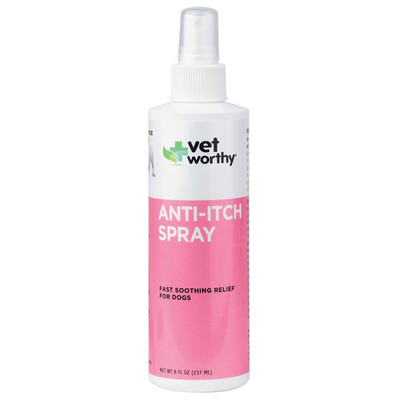 Vet Worthy Anti-Itch Spray for Dogs 8 oz