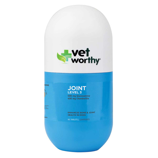 60 Count Vet Worthy Dog Joint Support Level 3 Tablets