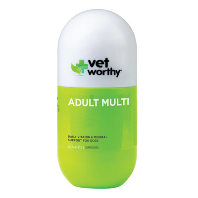 60 Count Vet Worthy Vitamin and Mineral Tablets Adult