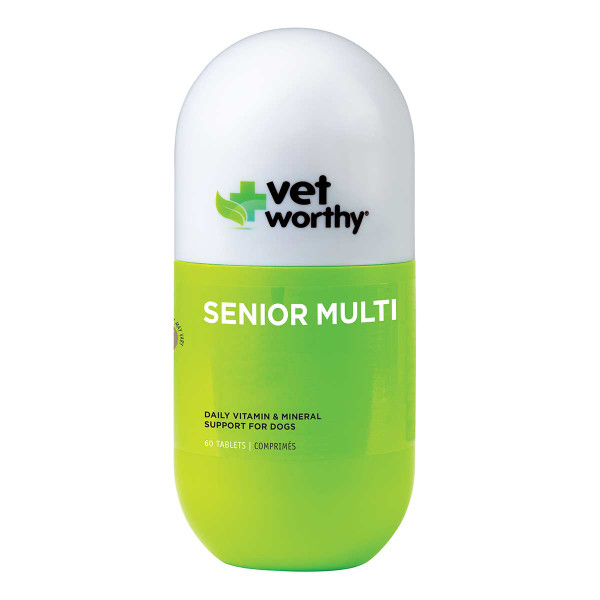 Senior Vet Worthy Vitamin and Mineral Tablets 60 Count