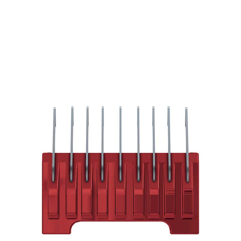 Wahl #5 Red 1/8 inch Cut Stainless Steel Comb 5 In 1