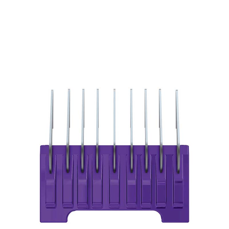 Wahl #4 Purple 1/4 inch Cut Stainless Steel Comb 5 In 1