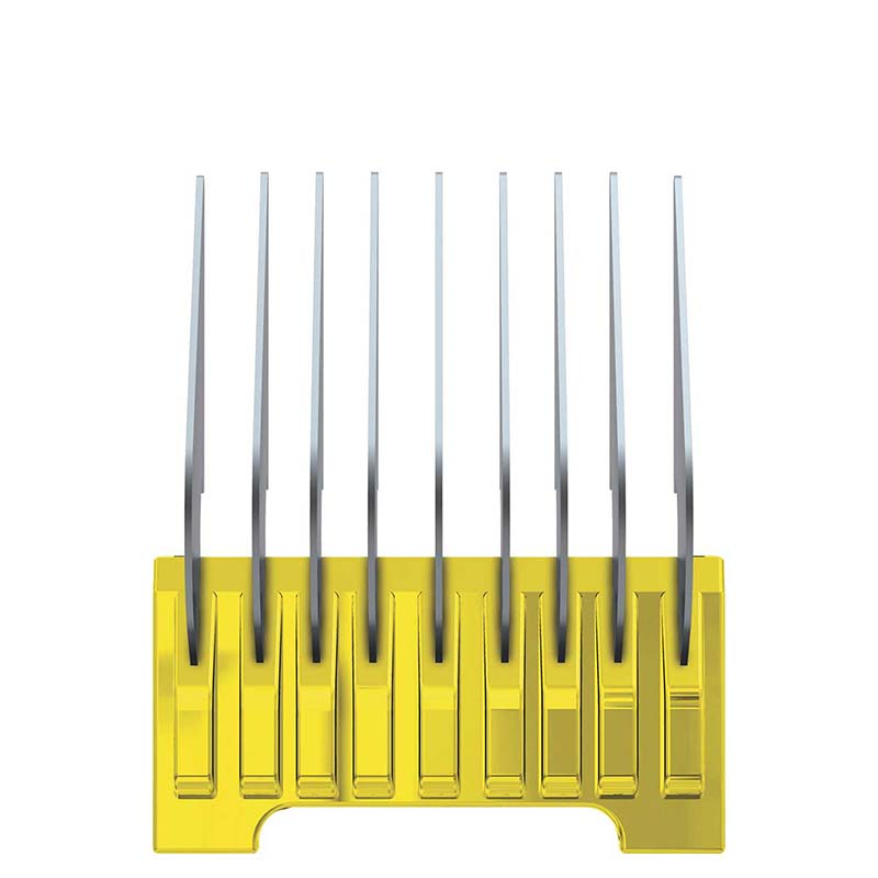 "Wahl Yellow Stainless Steel Guide Comb for 5 in 1 Blade #0 (5/8"")"