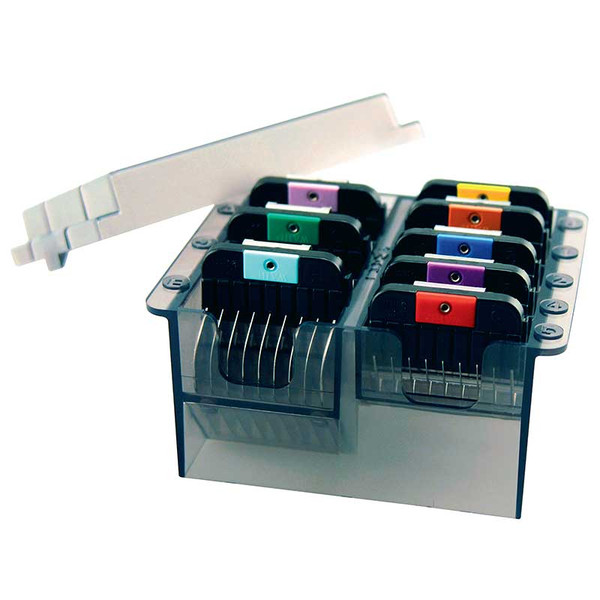 Wahl Stainless Steel Attachment Guide Combs - Set Of Combs with Container