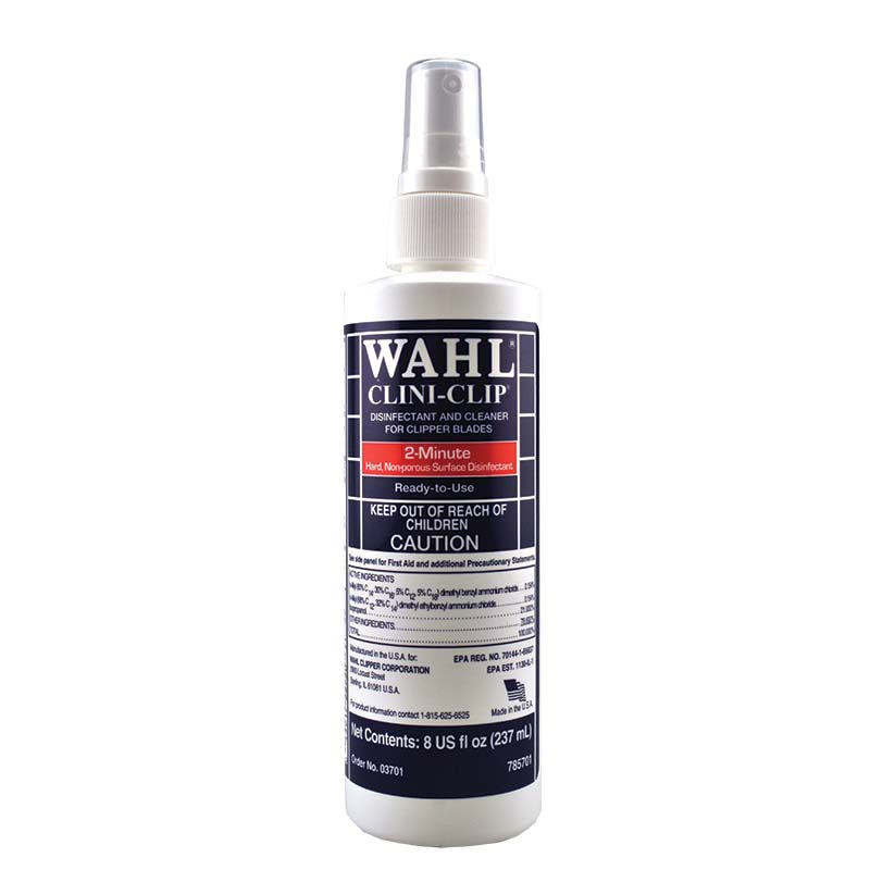Wahl Clini Clip Clipper Cleaner Blade Disinfectant 8 Oz