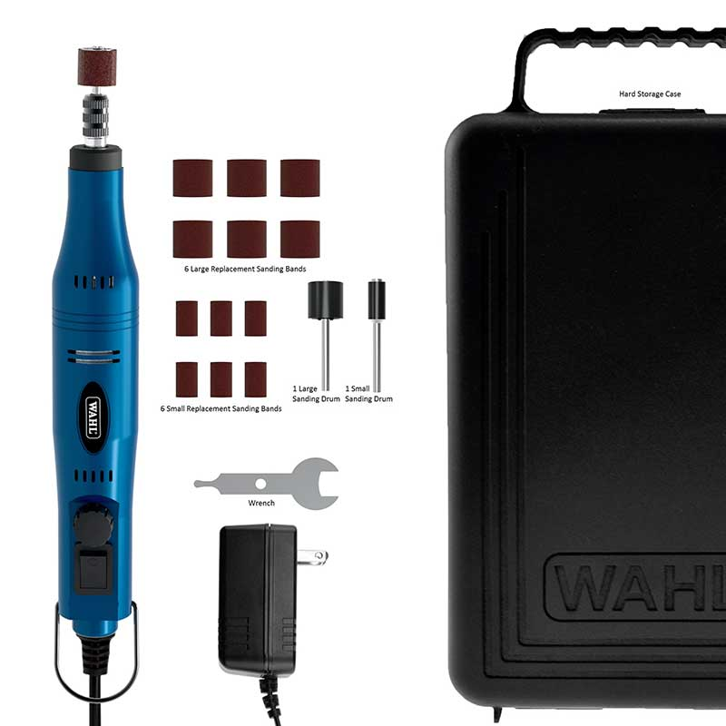 Wahl Ultimate Nail Grinder Kit includes Accessories and Carrying Case