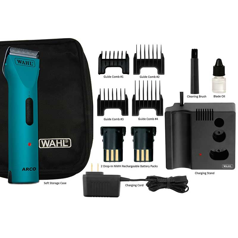 Teal Wahl Vet Arco Clipper and Cordless Clipper Kit with Accessories
