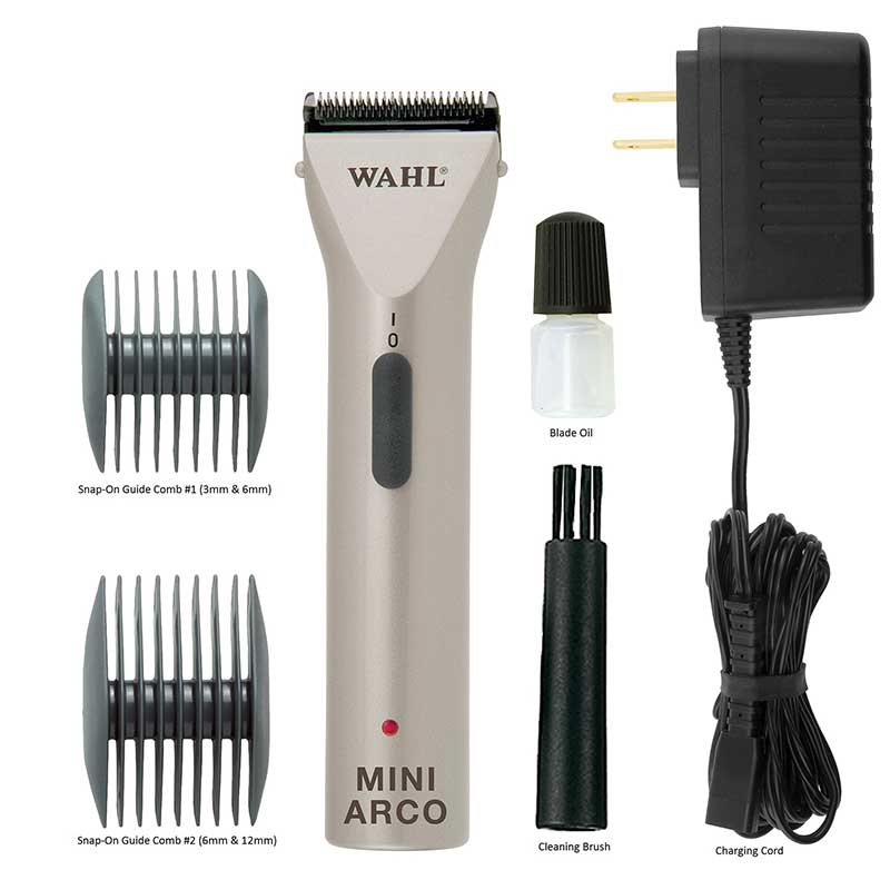 Kit for Wahl MiniArco Cord/Cordless Trimmer includes Accessories