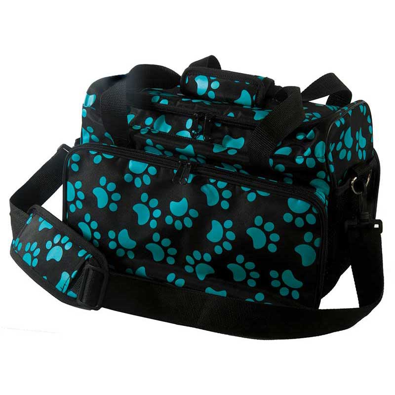 Wahl Travel Tote Bag For Groomers Turquoise Paw Print