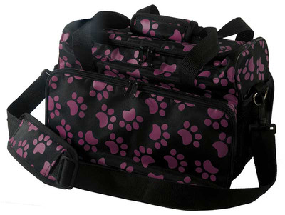 Wahl Travel Paw Print Bag Berry for Grooming Pros