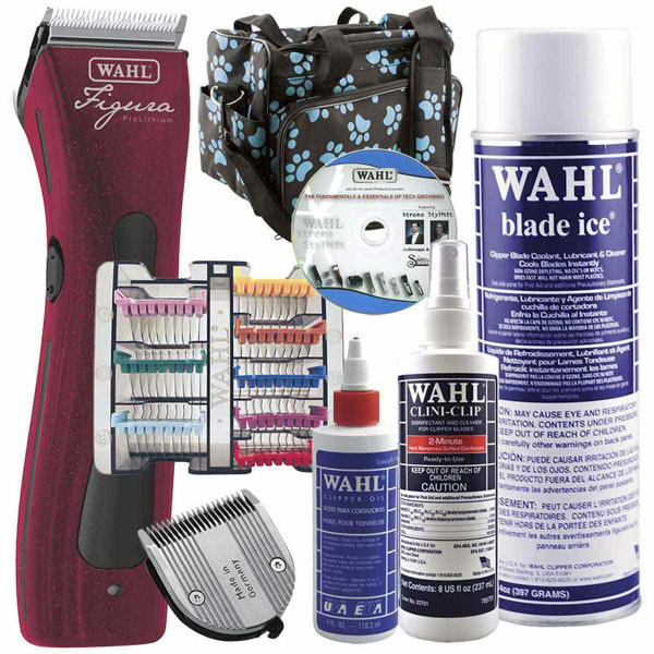 Wahl Metallic Red Figura Clipper Grooming Student Kit