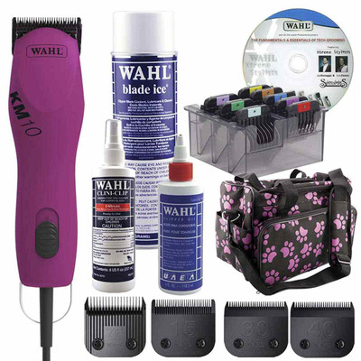 Berry Pink Wahl KM10 Clipper Grooming Student Kit