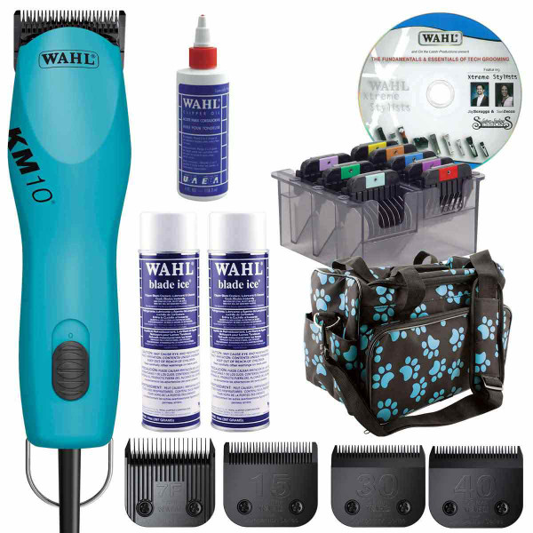 Turquoise Wahl KM10 Grooming Student Kit for Beginners