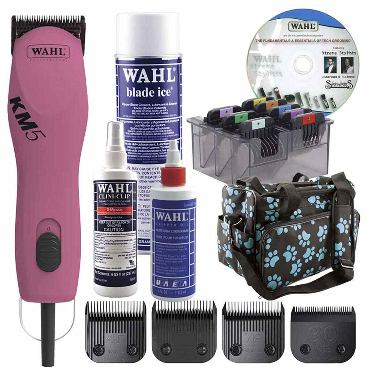 Cotton Candy Pink Wahl KM5 Grooming Starter Kit for Students