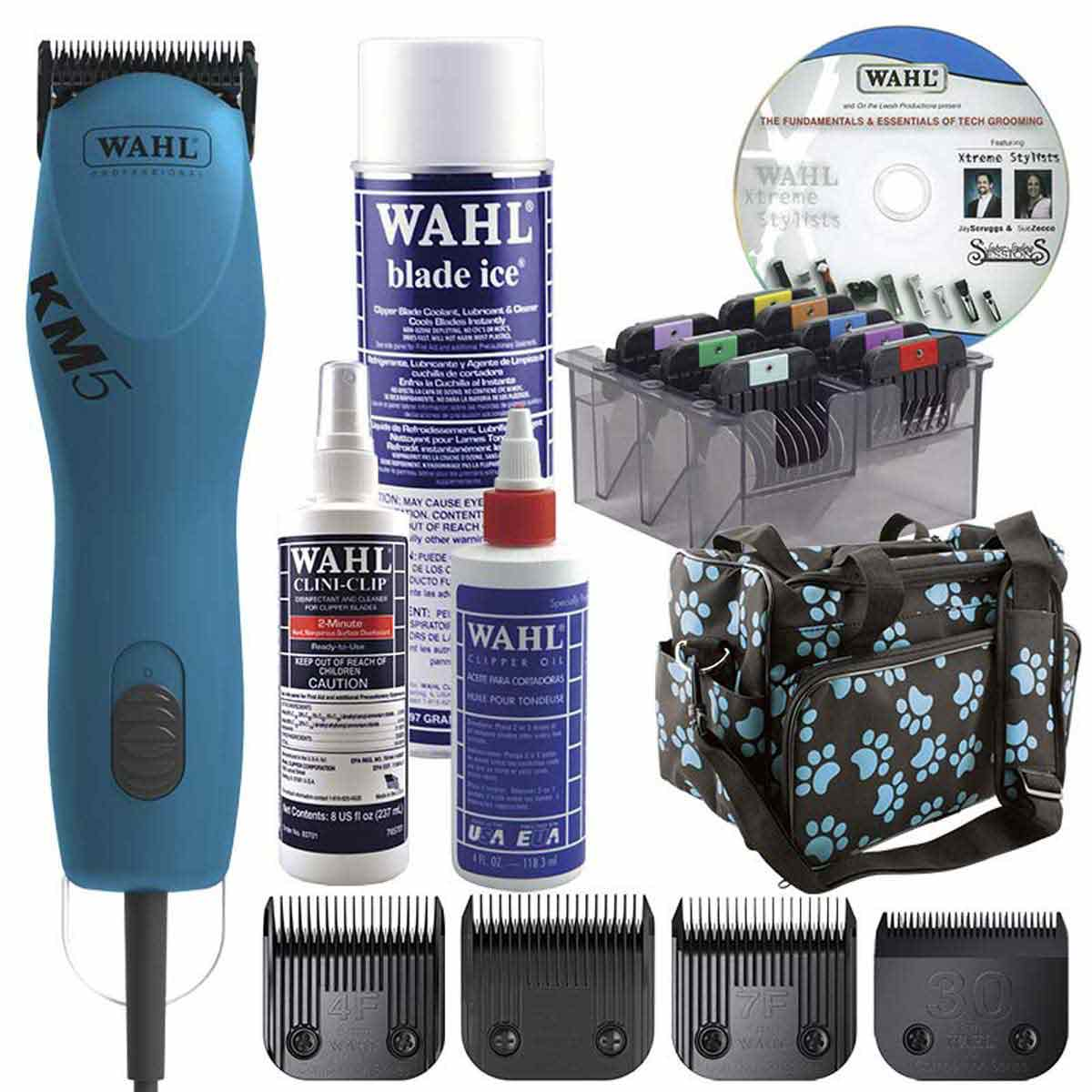 Turquoise Wahl KM5 Grooming Student Kit - Includes Everything Beginners Need