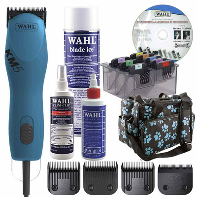 Turquoise Wahl KM5 Grooming Clipper Student Kit Includes everything a beginner needs!