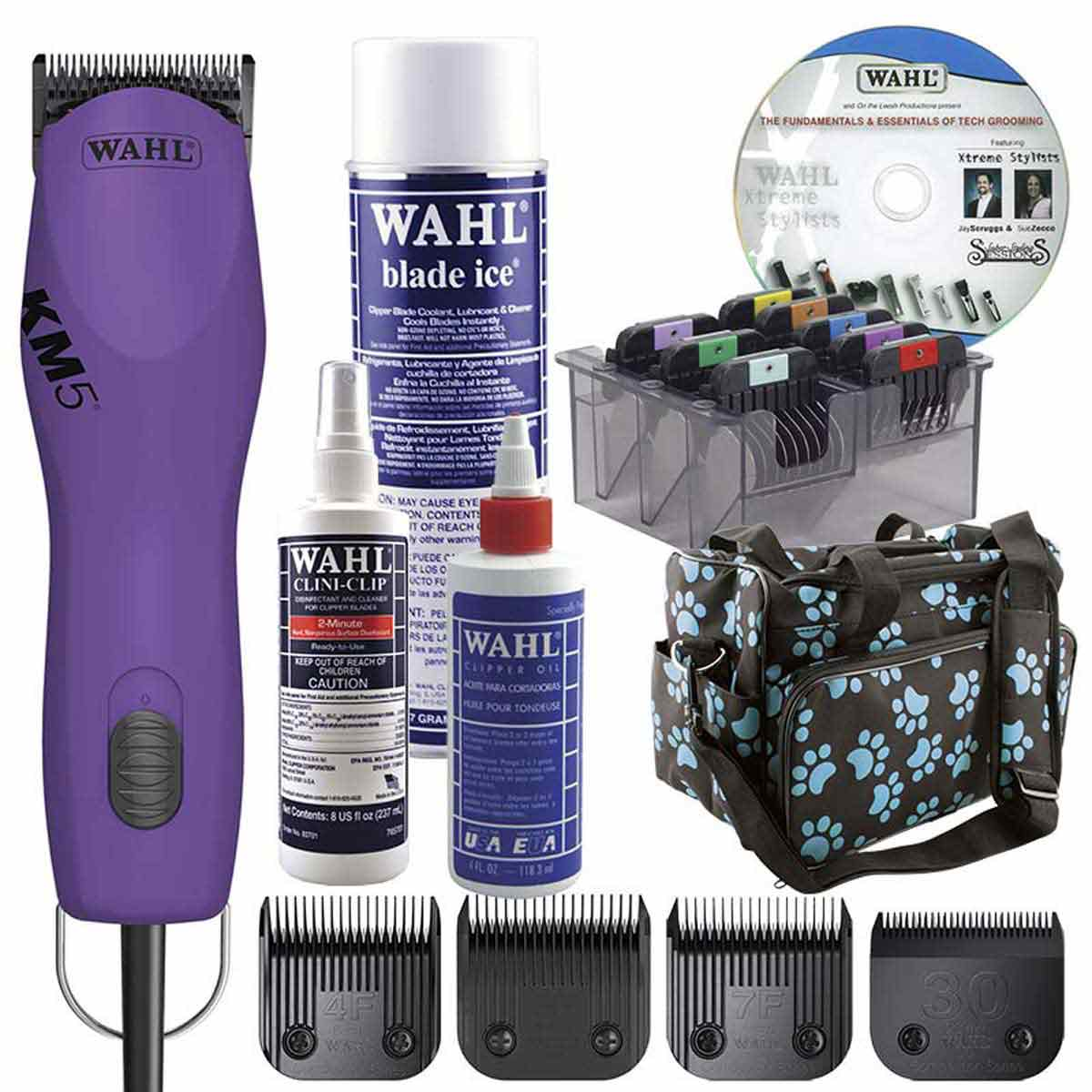 Purple Wahl KM5 Grooming Student Kit