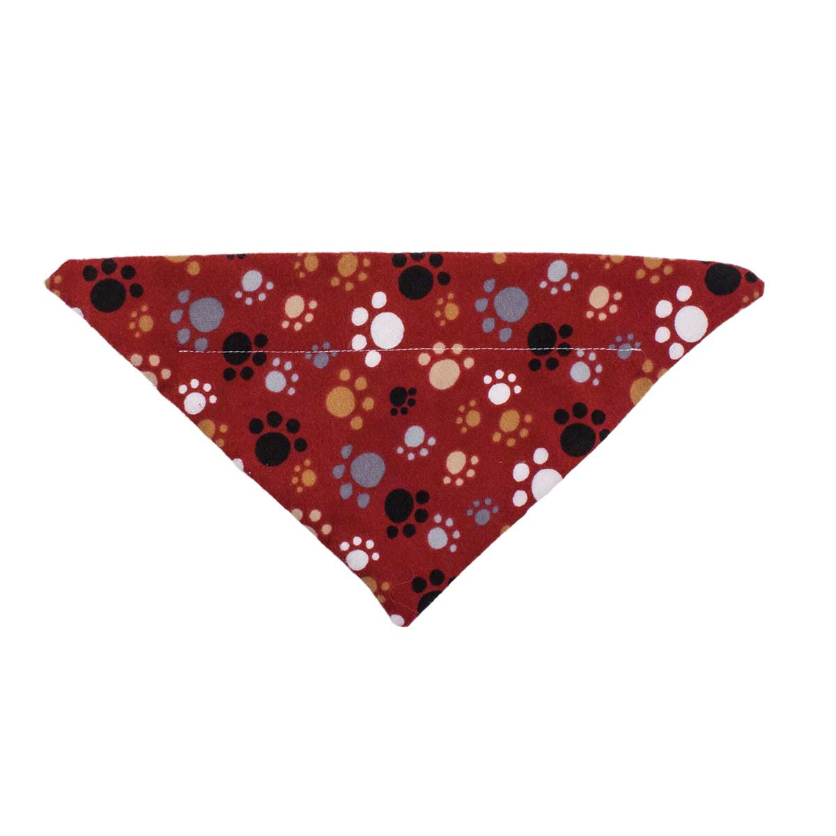 Flannel Puppy Paws Small 9.75 inch Dog Collar Bandana