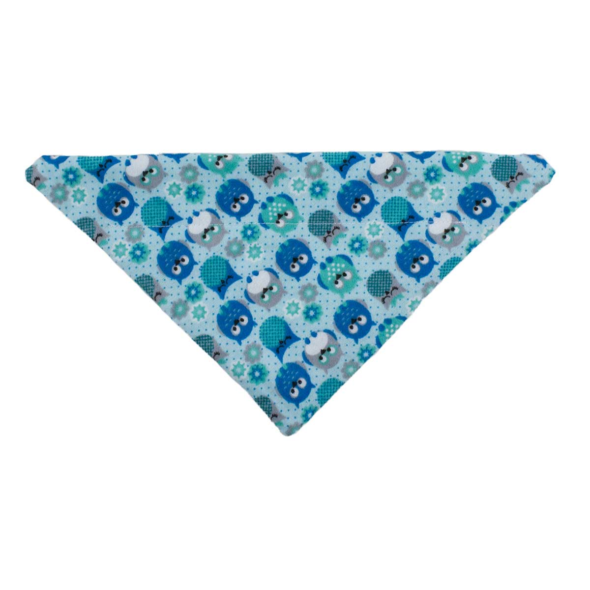 Flannel Owls X-Small 7.5 inch Dog Collar Bandanna at Ryan's Pet Supplies