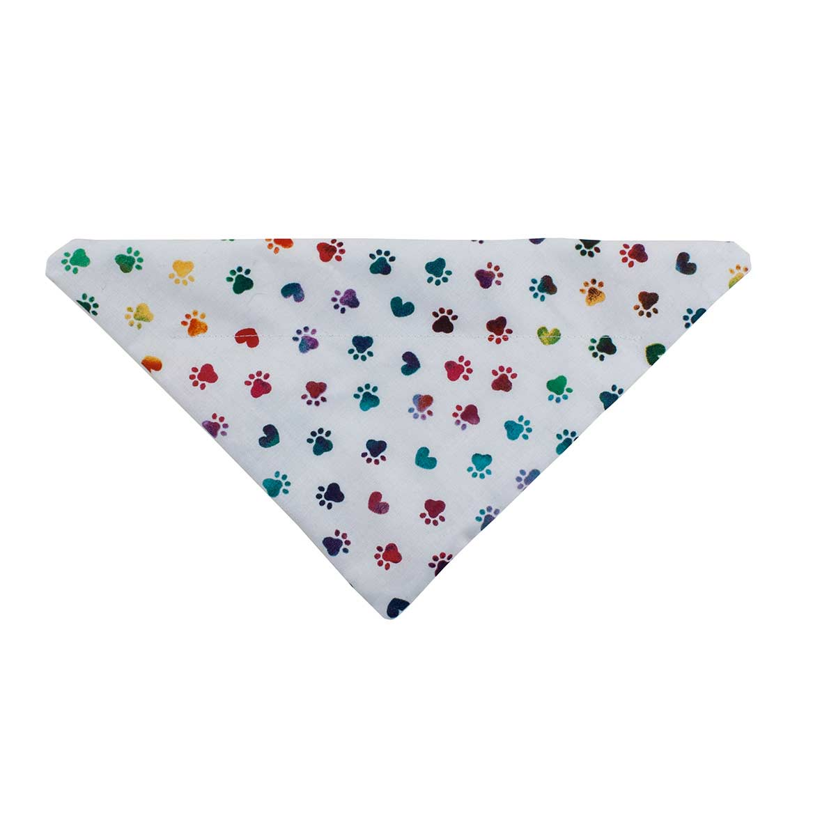 Medium Colorful Paws 11.5 inch Dog Collar Bandanna